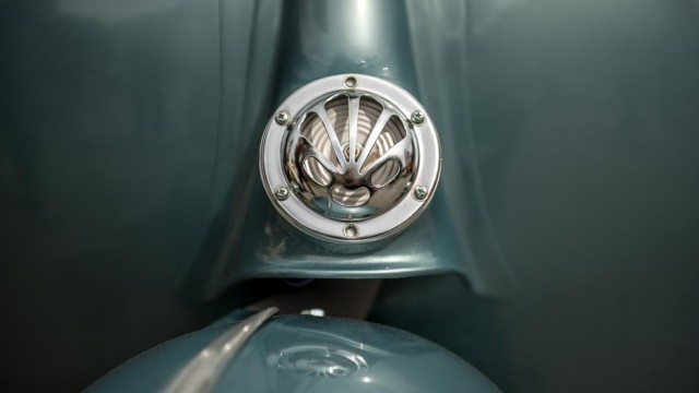 Detail of the horn of a Vespa